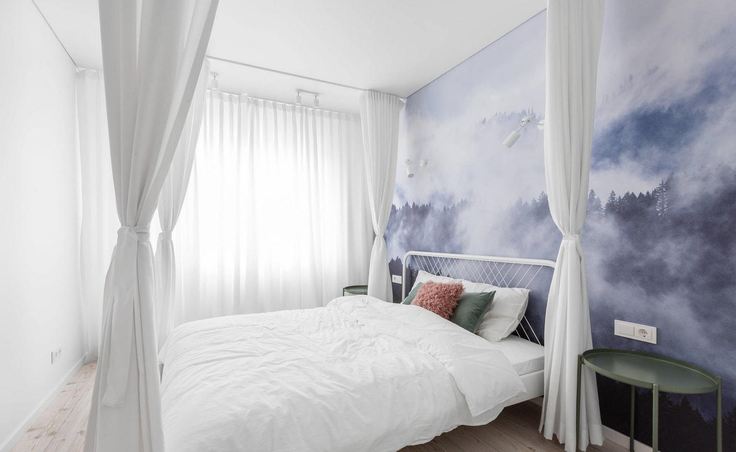потолочный балдахин в комнате фото