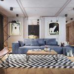 Дизайн гостиной 20 кв м в стиле лофт