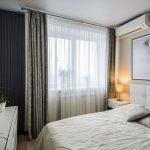 Дизайн спальни гостиной 18 кв. м в одной комнате. Фото проекта