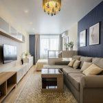 Дизайн гостиной-спальни 18 кв. м. в одной комнате