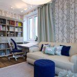 Интерьер комнаты для девочки с рабочим местом