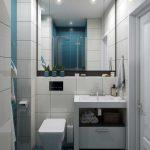 Дизайн маленькой совмещенной ванной комнаты 3 кв.м. Фото