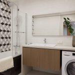 Дизайн маленькой ванной комнаты 4 кв. м в современном стиле