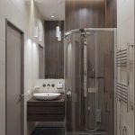 Дизайн ванной комнаты 3 кв. м., совмещенной с туалетом