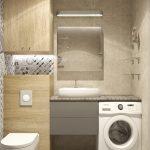Дизайн ванной комнаты 3 кв.м со стиральной машиной