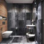 Дизайн ванной комнаты в стиле лофт с душевой кабиной