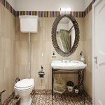 Дизайн ванной комнаты 4 кв. м в классическом стиле