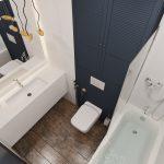 Дизайн ванной с туалетом 4 кв. м