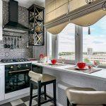 Дизайн интерьера маленькой кухни 5, 6, 7 кв. м. с холодильником