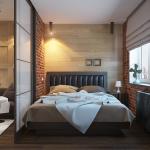 Гостиная, совмещенная со спальней с перегородкой лофт