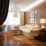 Интерьер гостиной-спальни 20 кв.м. Фото проекта