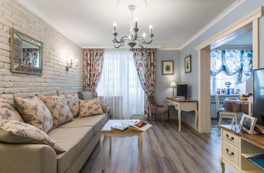 гостиная в стиле прованс Дизайн FUSION DESIGN