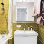 Интерьер ванной комнаты 4 кв. м в скандинавском стиле
