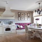 Кухня прованс с диваном