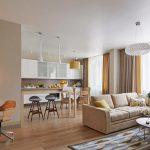 В современном стиле кухня-гостиная