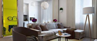 Дизайн квартиры 30 кв. м. Фото дизайна и планировок небольшой квартиры