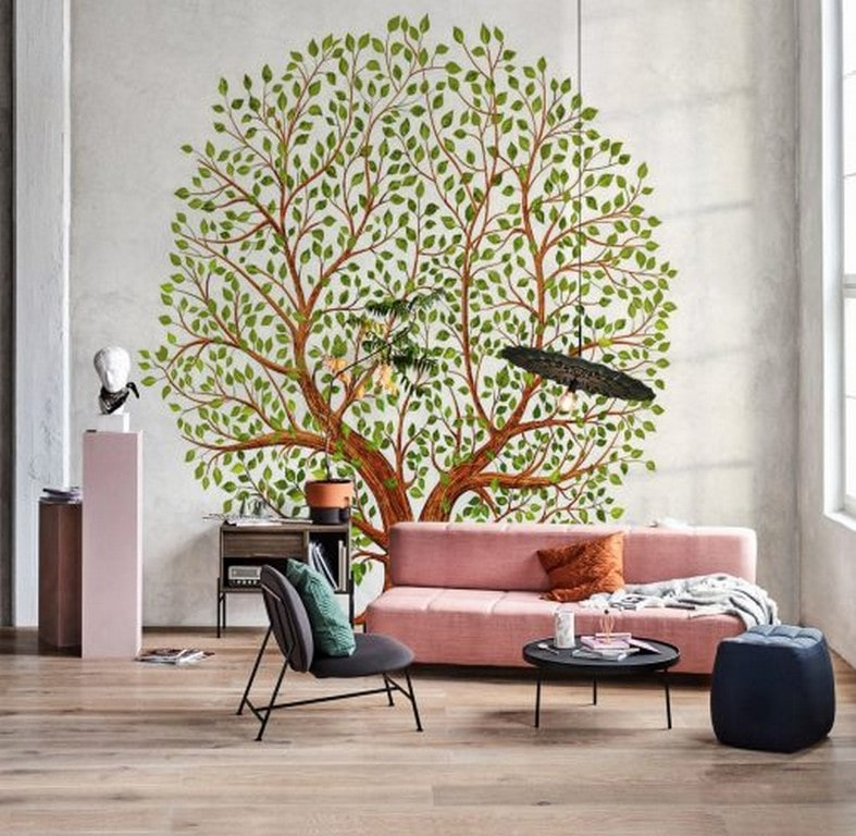 достоинство привлекательность фотообои дерево на стену рассчитывала организовать