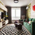 Дизайн двухкомнатной квартиры 45 кв. м. Фото проекта