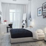 Скандинавский стиль спальни