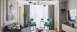 Современная гостиная 20 кв.м. в квартире