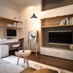 Современный дизайн проект комнаты в эко-стиле