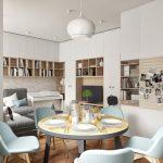 Современная кухня гостиная ДИЗАЙН PROJECTORSTUDIO