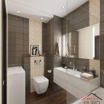 Современный дизайн ванной 4 квадрата со стиральной машиной и туалетом