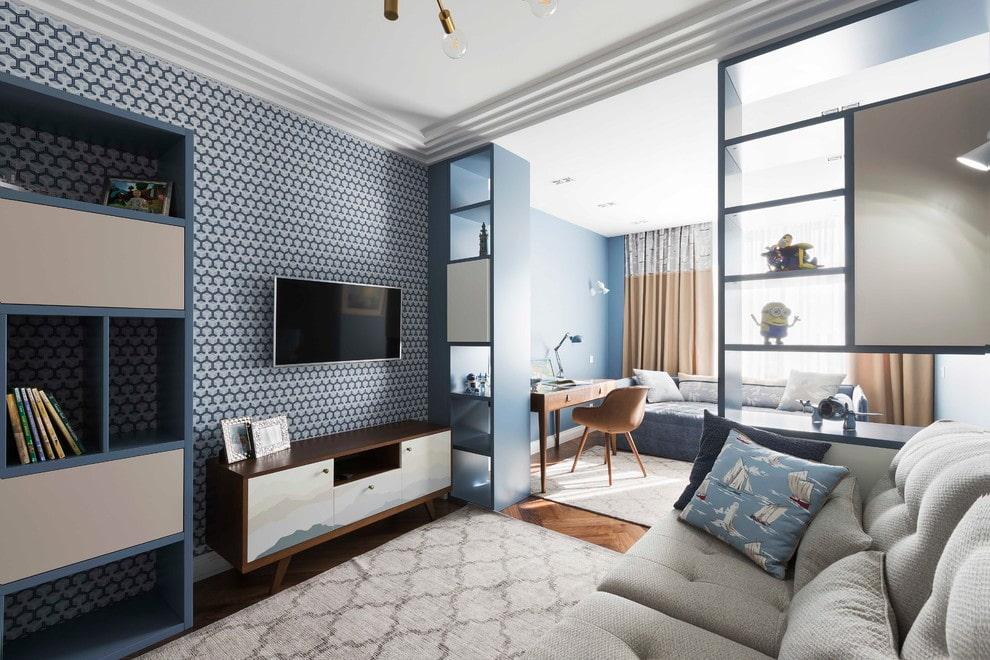 пример спальни и гостиной в одной комнате