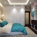 Дизайн спальни с рабочим местом на балконе (лоджии)