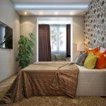 9 метровая спальня. Фото пример