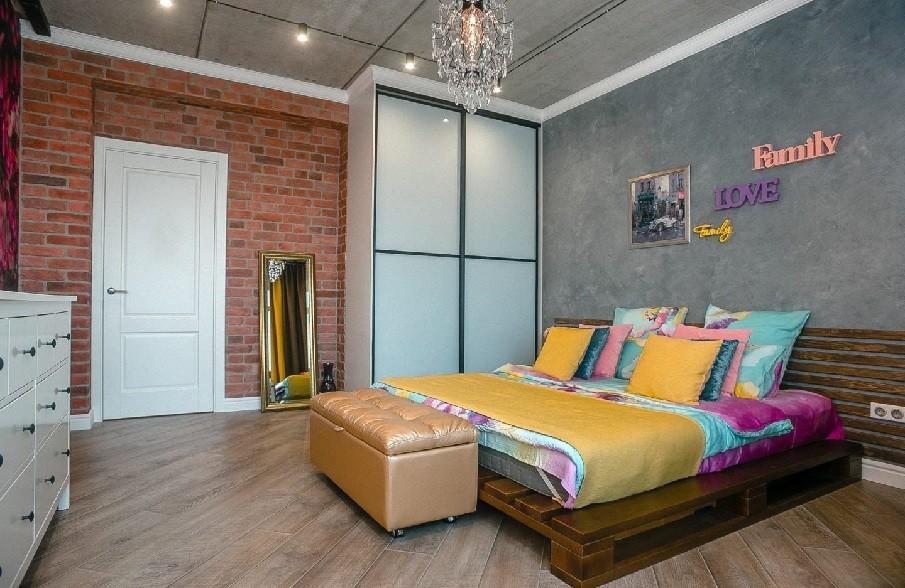 третий вариант планировки спальни 12 кв. м