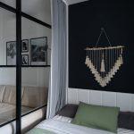 Спальня гостиная со стеклянной перегородкой лофт