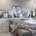 Спальня в скандинавском стиле с элементами лофта