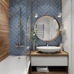 синий кабанчик в ванной